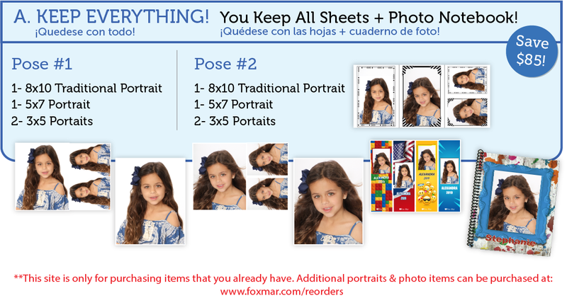 Package a with photo notebook